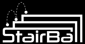 StairBall Logo (White on Black)